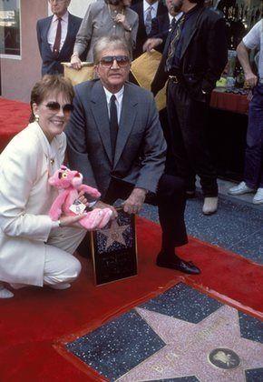 Blake Edwards and Julie Andrews at Hollywood Walk of Fame Ceremony 04-03-1991
