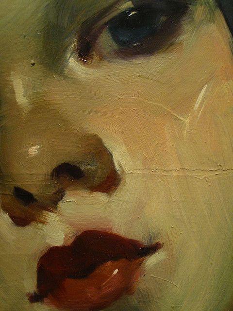 portrait (detail), malcom liepke, 2009