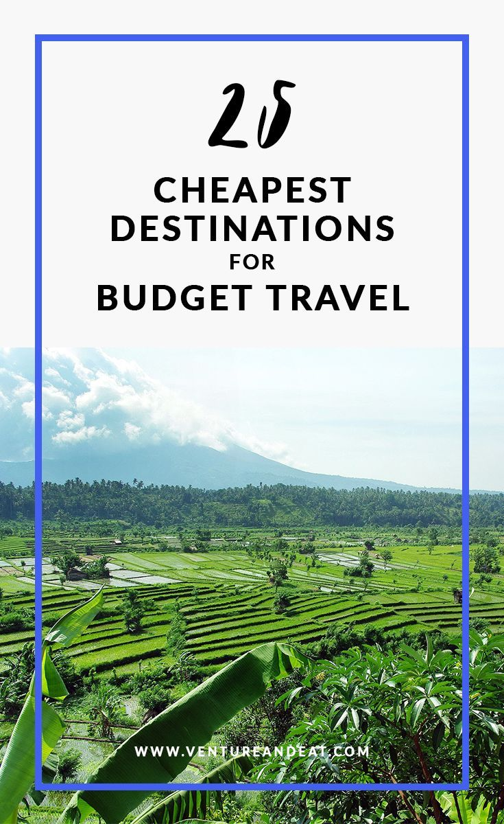 Budget Travel   Cheap Destinations   Cheapest Travel Destinations   Can't decide where to go next, but on a budget? Don't worry. I've compiled 25 of the cheapest destinations that won't break the bank. These destinations are $40 a day or less and include a few surprise cities!