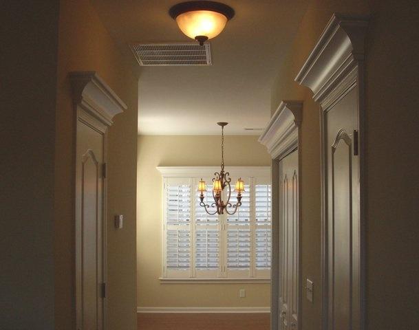 Pediments over interior door and window - Interior door with window on top ...
