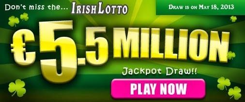 Irish Lotto Draw: EU 5.5M Jackpot on May 18