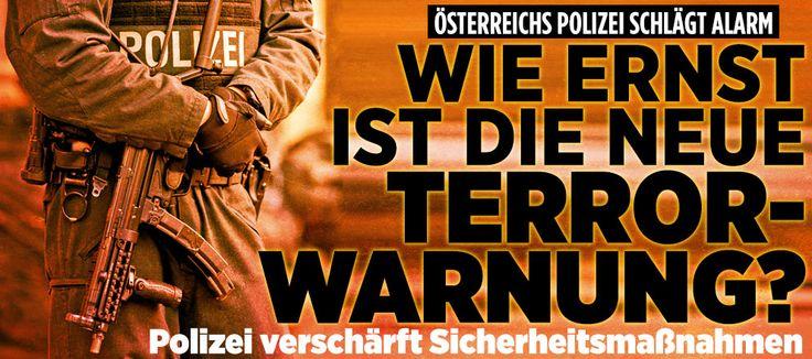 Österreichs Polizei warnt vor Terrorgefahr in Europa: Wie ernst ist die Gefahr? http://www.bild.de/politik/ausland/terrorismus/wie-ernst-muessen-wir-die-neue-terror-warnung-nehmen-43933980.bild.html