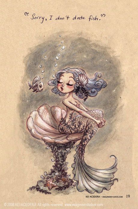 cute art for nursery wall of a mermaid