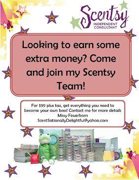 Looking to earn extra money???  RaeAnn 270-872-3378 https://RaeAnn.Scentsy.us https://fb.com/RaeAnn.Scentsy