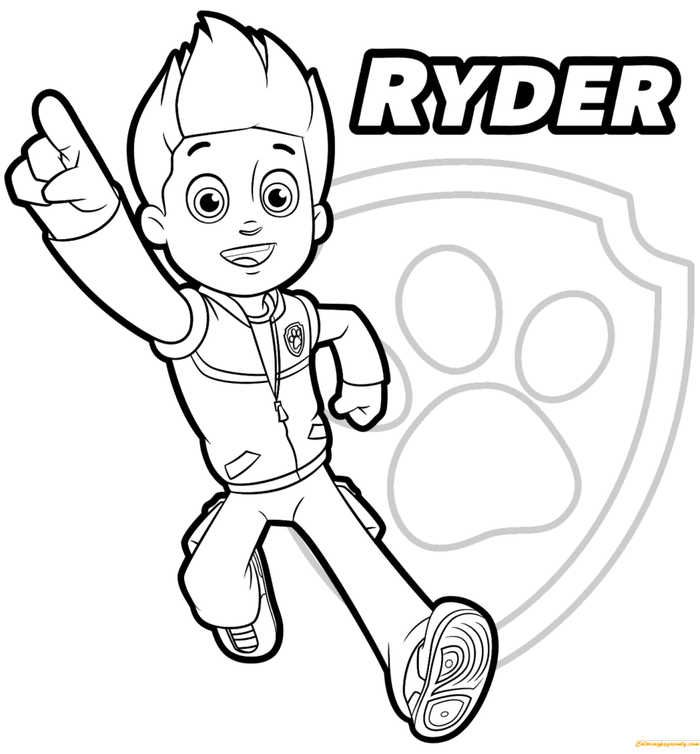 Paw Patrol Coloring Pages To Print Paw Patrol Coloring Pages Paw Patrol Coloring Ryder Paw Patrol