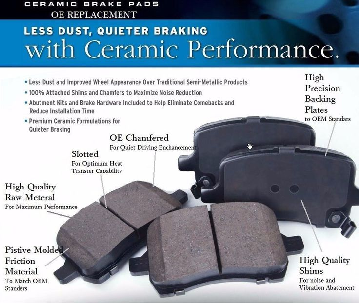 Ultra-Premium Ceramic Brake Pads F+R (Fits:Audi A6 Quattro 3.2L 2005-2008) #OEREPLACEMENT