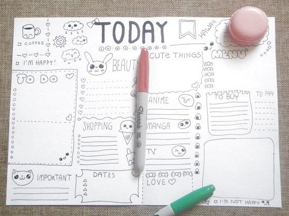 diario kawaii planner giornale giornaliero da di LaSoffittaDiSte
