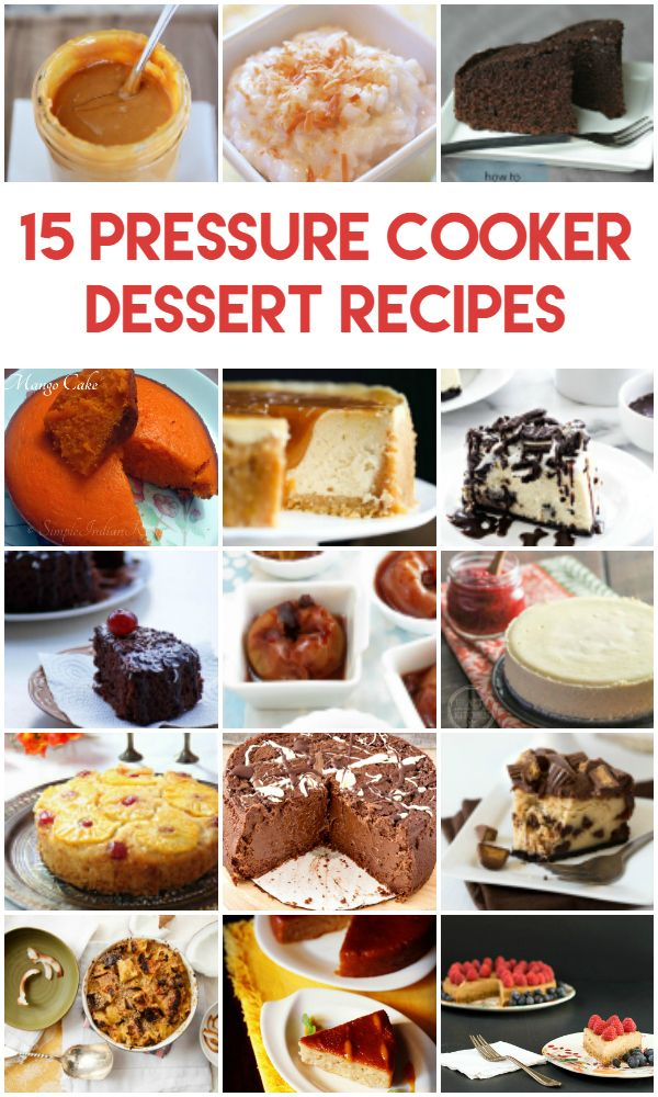 You haven't truly made good use of your pressure cooker until you've made one of these decadent pressure cooker dessert recipes in it! . Post may include affiliate links to help support my Diet Coke habit. . My sister received a pressure cooker for Mother's Day…and I cook three times as often. Doesn't quite seem …