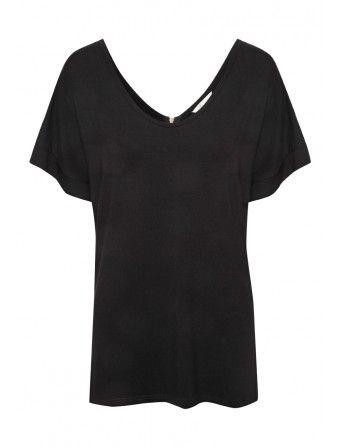 Womens Zip Back T-shirt   Peacocks