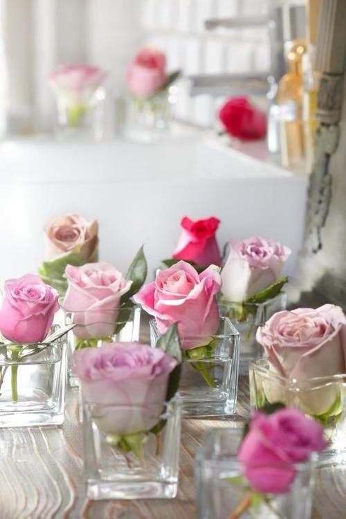 Roses in vases❤