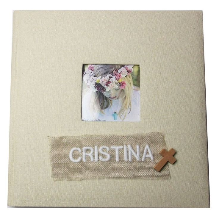Libro de firmas personalizado para comuni n libro de - Album de fotos personalizado ...