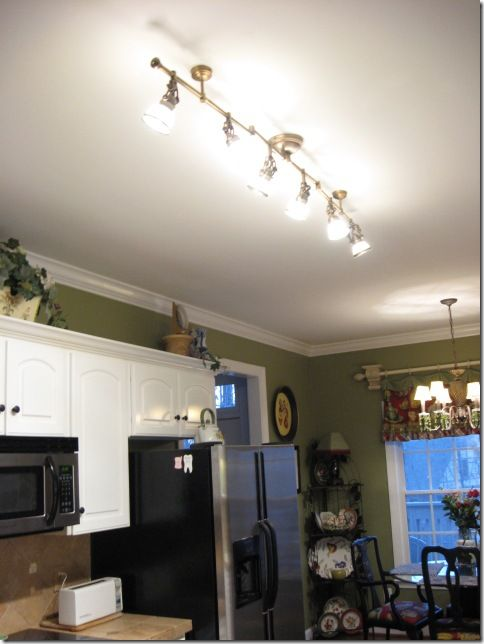 pretty track lights antique brass finish with adjustable spotlights from lowes to replace fluorescent - Kitchen Overhead Lighting Ideas