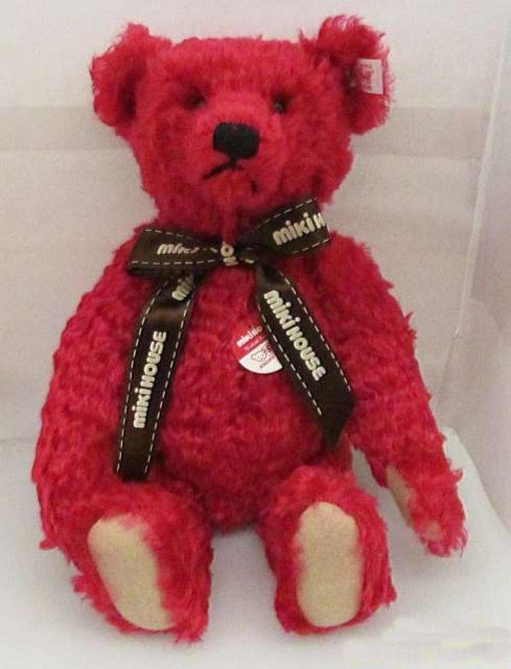 """Steiff Teddy Bear Miki House 30th 2001 13.7""""Doll Japan 1500 Limited Red Used #Steiff"""