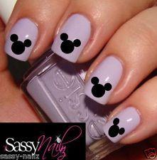 disney nail art | Mickey Mouse Disney Head nail art decal water transfer wrap not ...