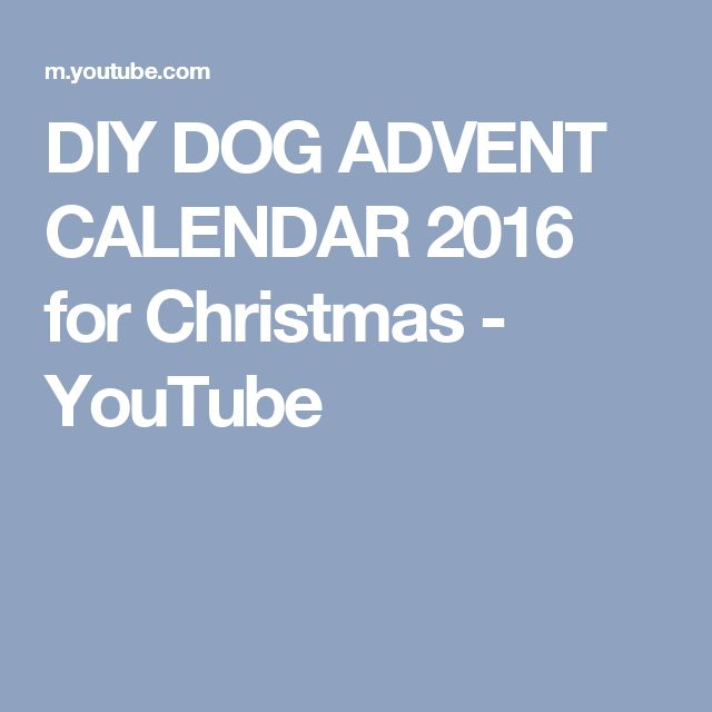 DIY DOG ADVENT CALENDAR 2016 for Christmas - YouTube Christmas