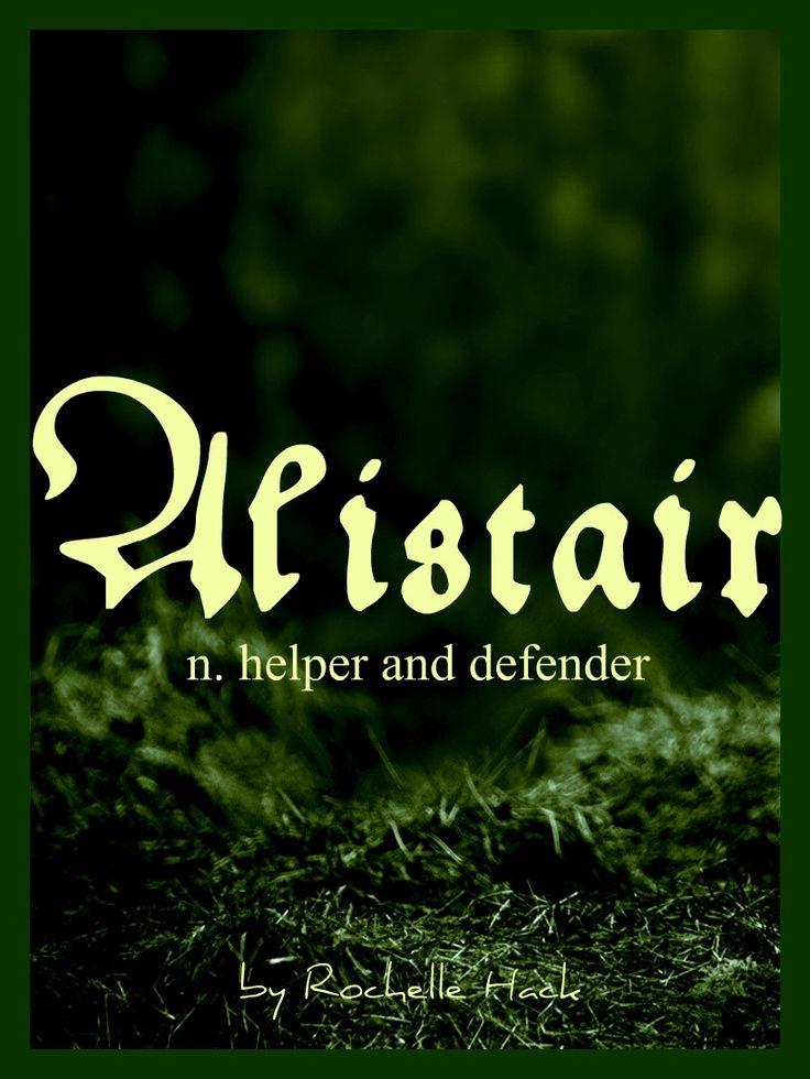 Baby Boy Name: Alistair. Meaning: Helper and Defender. Origin: Scottish; Gaelic. http://www.pinterest.com/vintagedaydream/baby-names/
