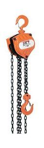 JET 101700 SMH-1/2T-10 1/2-Ton Capacity 10-Foot Chain Hoist by Jet. $131.25. From the Manufacturer                JET Tools delivers the gold standard for industrial chain hoists. The JET 101700 is engineered for commercial and industrial lifting applications and offers 1/2 ton capacity. This hoist is portable and includes a lightweight, compact design for low headroom applications with a completely enclosed Weston type automatic brake system for positive load spotti...
