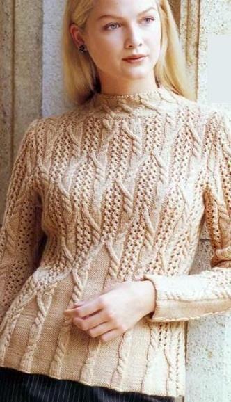 Узоры вязания на спицах для теплых детских свитеров