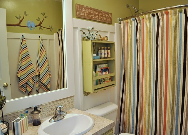 Bathroom: Boys Bathroom, Bathroom Colors, Kids Bathroom, Sassy Sanctuary, Bathroom Ideas, Shower Curtains, Kid Bathrooms, Design