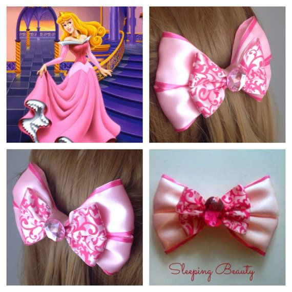 Handmade Hair Bow. Disney's Sleeping Beauty. by HairBowObsessions
