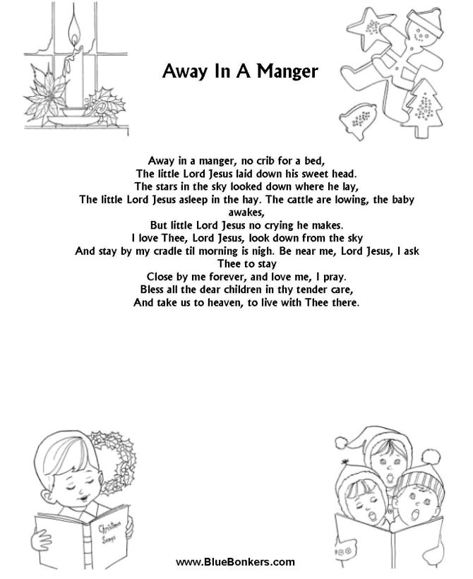 photo about Lyrics to Away in a Manger Printable named Xmas Track Lyrics Equivalent Keywords and phrases Strategies
