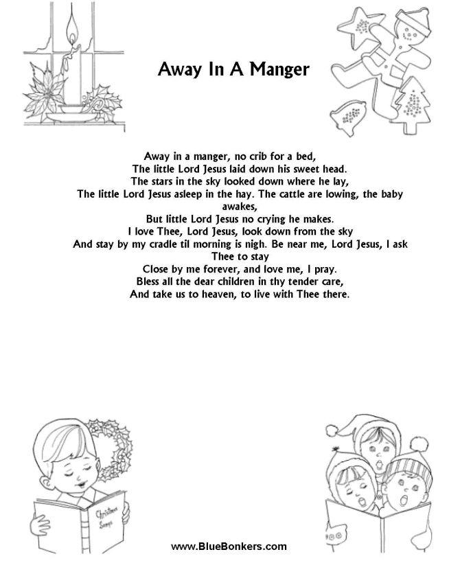 image regarding Lyrics to Away in a Manger Printable identify Xmas Tune Lyrics Similar Keyword phrases Guidelines