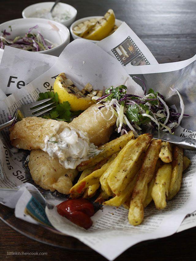 Tempura Beer Battered Fish and Chips