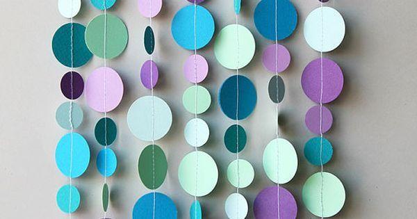 Liked on Pinterest: Burbujas fiestas decoración decoración del partido de sirena decoraciones de cumpleaños de la sirena sirena burbujas garland sirena partido guirnalda de papel de burbujas