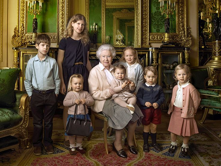 Princess Charlotte Is the Queen's Mini-Me in 'Jolly' New Portrait – This One with All the Littlest Royals!| The British Royals, The Royals, Prince George, Princess Charlotte, Queen Elizabeth II