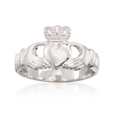 Sterling Silver Claddagh Ring — Alt Image 1