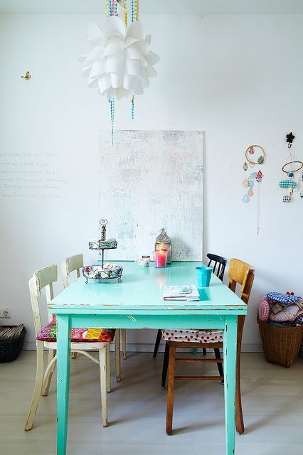 kitchen table painted