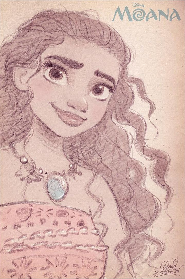 EN-: Fanart of Moana from next Disney's animated feature. FR-: Fanart de Vaiana…