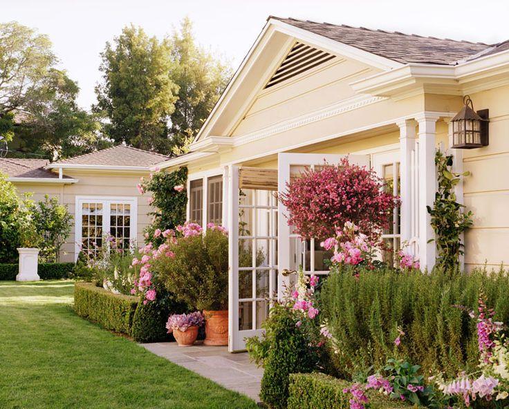 garden love: Interior, French Doors, Cottage, Dream House, Beautiful, Outdoor, Gardens, Backyard, Yellow House