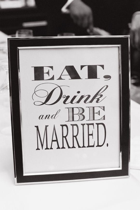Monochrome wedding ideas