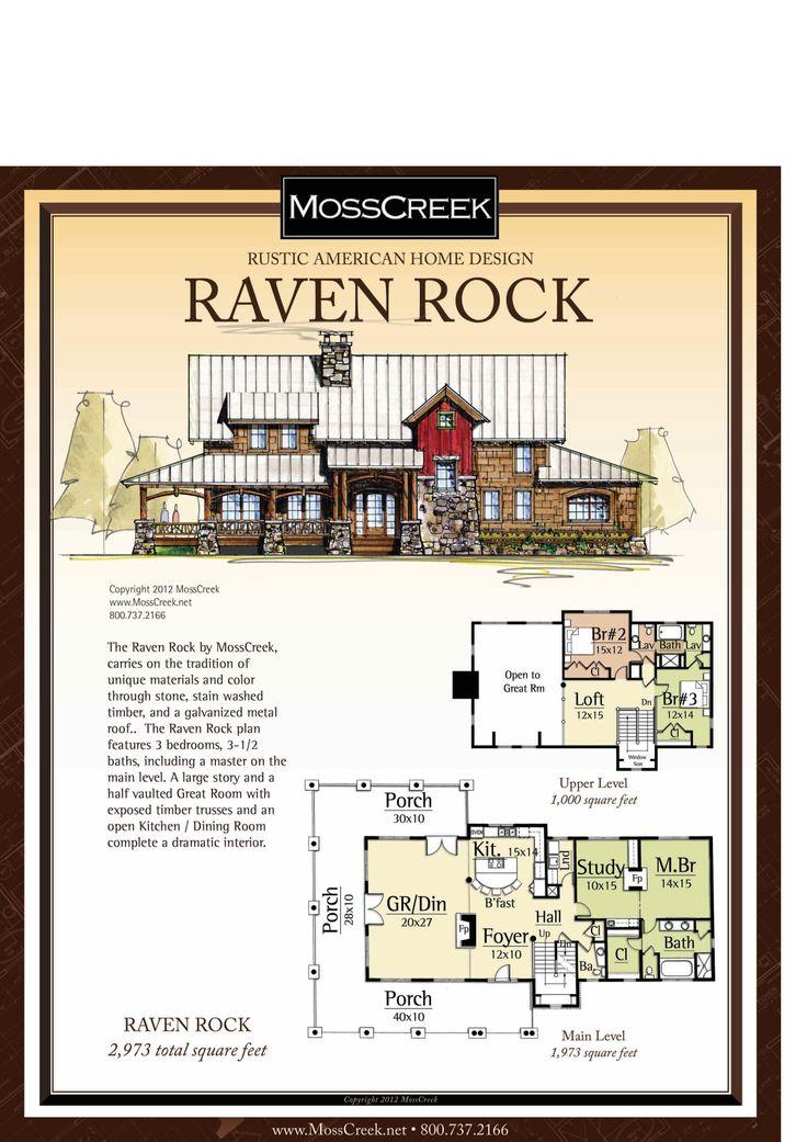 Moss creek raven rock houseplans pinterest raven for Moss creek home designs