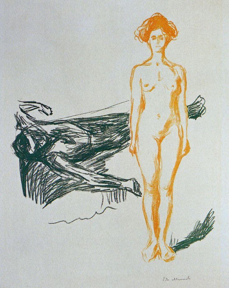 Edvard Munch (1863-1944) - Death of Marat [1905-1907]