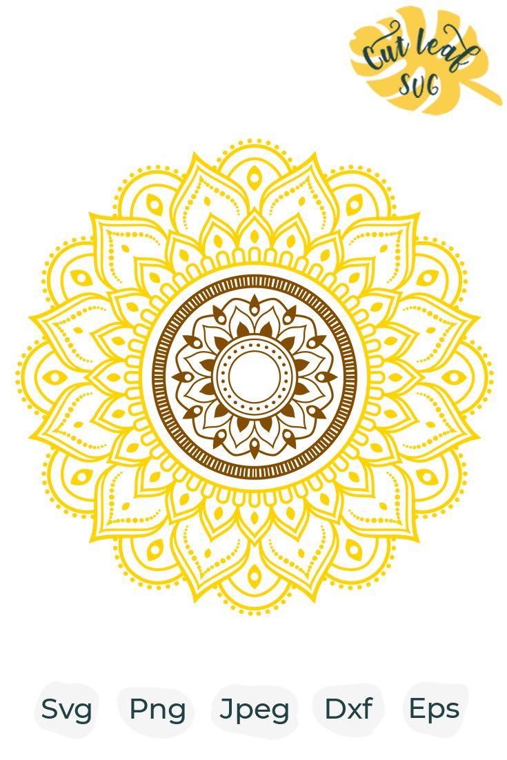 Sunflower svg, sunflower clipart, mandala svg, flower svg ...
