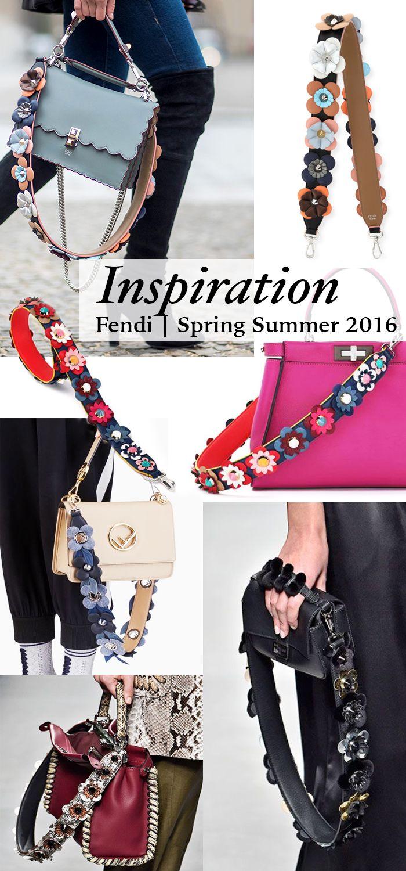 9e3d566cc9b3 Fendi Spring Summer 2016 Flower Bag Strap Diy Inspiration Diy