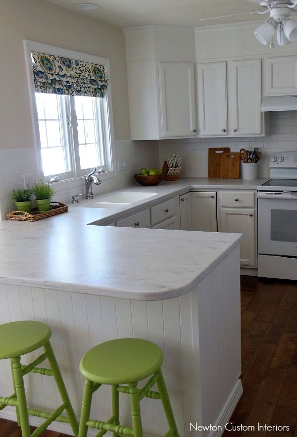Our White Kitchen Reveal from NewtonCustomInteriors.com