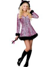 Pretty Lil' Kitty Cat Costume-Animal Costumes-Teen Girls Costumes-Teen Costumes-Halloween Costumes-Party City