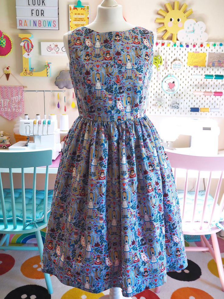 Smile & Make - COMING SOON: Made To Order - Alice in Wonderland Periwinkle Blue Picnic Dress