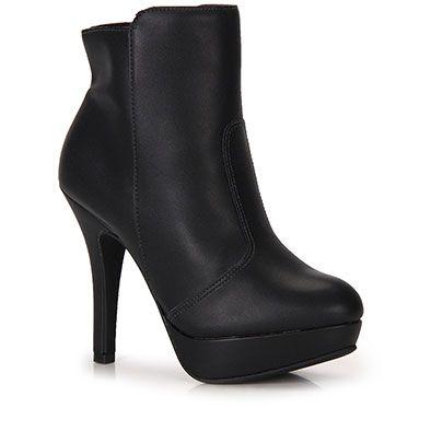 Ankle Boots Feminina Vizzano - Preto