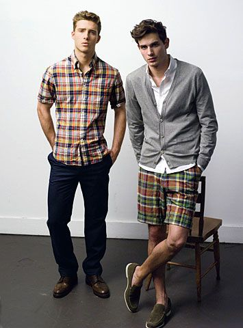 Madras should never be worn head to toe. Pair shorts or shirts in the fabric with something basic.