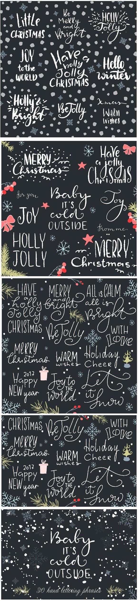 Hand lettering christmas phrases #christmas #newyear