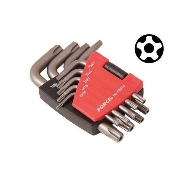 Allen Torx με 5 Γωνίες με Τρύπα Σετ 9 τμχ Force 50913 | electrictools.gr