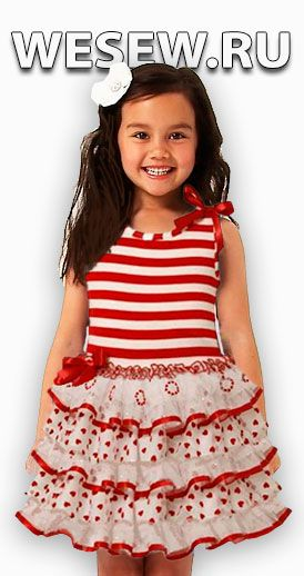 Готовая выкройка летнего платья для девочек