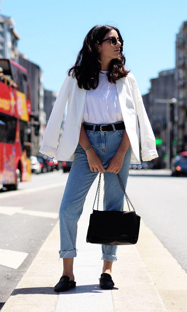 Blazer branco é uma ótima pedida sempre, peça atemporal no guarda-roupa feminino.