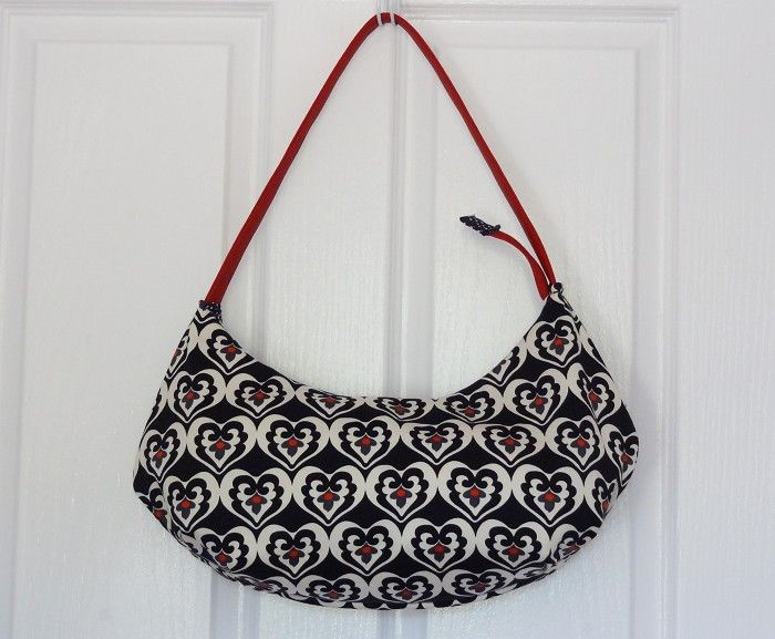 Black & White Ivy Sateen Hobo Handbag - by OneBusySloth on madeit