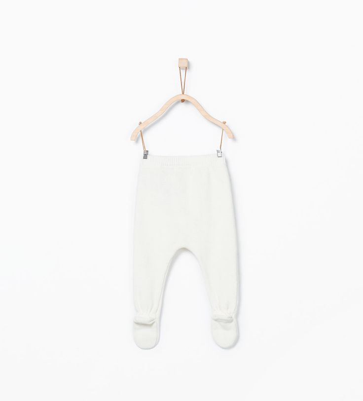 Knit leggings with bow-Outfits & romper suits-Mini | Newborn-12 months-KIDS | ZARA United States