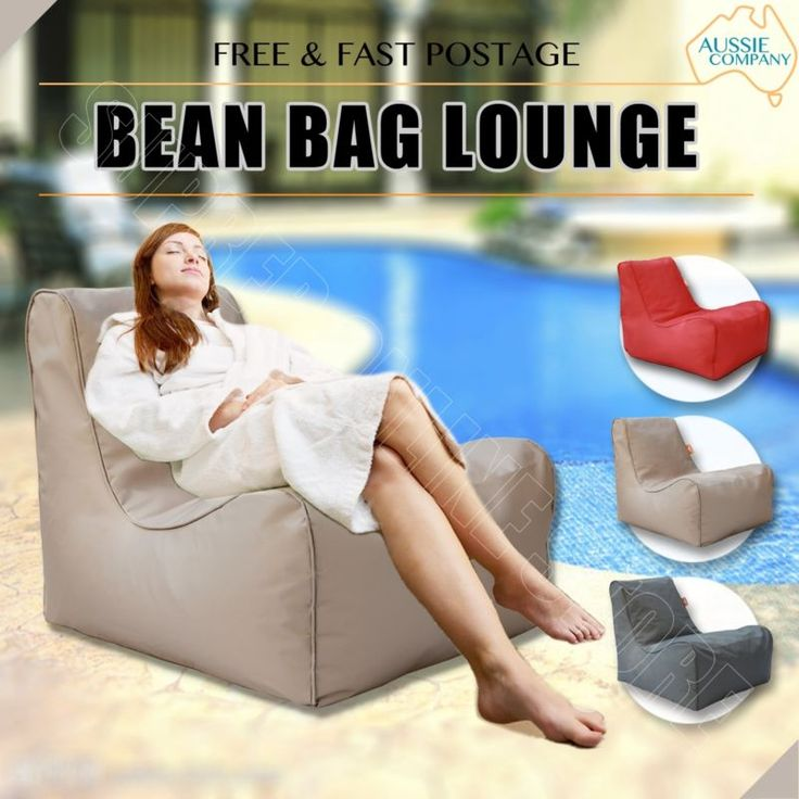 Bean Bag Lounge Chair Beanbag Cover Indoor Outdoor Sofa Seat Lounge Bed - Beige